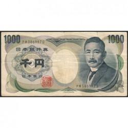 Japon - Pick 97b - 1'000 yen - Série PM - 1984 - Etat : TB+