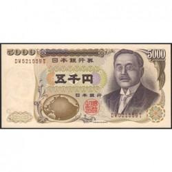 Japon - Pick 101c - 5'000 yen - Série DW - 2001 - Etat : pr.NEUF