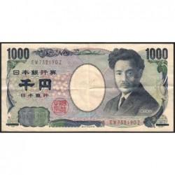 Japon - Pick 104b - 1'000 yen - Série EW/Z - 2004 - Etat : TTB