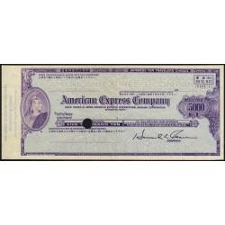 Japon - Chèque de voyage - American Express Company - 5'000 yen - 1970 - Spécimen - Etat : SUP