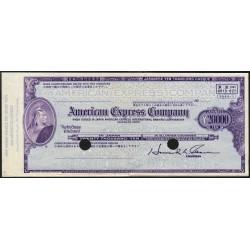 Japon - Chèque de voyage - American Express Company - 20'000 yen - 1970 - Spécimen - Etat : SUP