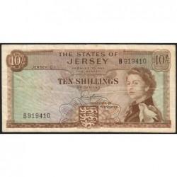 Jersey - Pick 7 - 10 shillings - 1963 - Série B - Etat : TB+