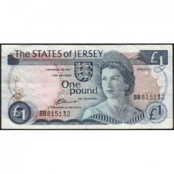Jersey - Pick 11a - 1 pound - 1976 - Série BB - Etat : TB+
