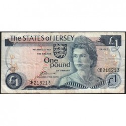 Jersey - Pick 11a - 1 pound - 1976 - Série CB - Etat : TB