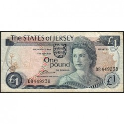 Jersey - Pick 11a - 1 pound - 1976 - Série DB - Etat : TB-