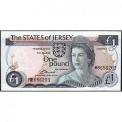 Jersey - Pick 11a - 1 pound - 1976 - Série HB - Etat : SPL