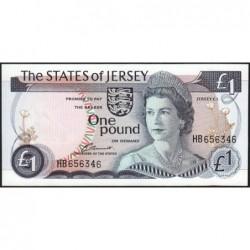 Jersey - Pick 11a - 1 pound - 1976 - Série HB - Etat : NEUF