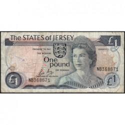Jersey - Pick 11b - 1 pound - 1985 - Série NB - Etat : B+