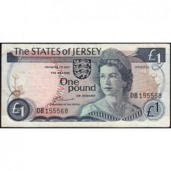 Jersey - Pick 11a - 1 pound - 1976 - Série DB - Etat : TB+