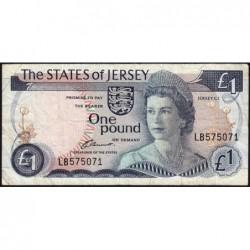 Jersey - Pick 11a - 1 pound - 1976 - Série LB - Etat : TB
