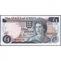 Jersey - Pick 11b - 1 pound - 1985 - Série TB - Petit numéro - Etat : pr.NEUF