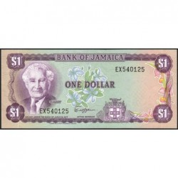 Jamaïque - Pick 61a - 1 dollar - Série EX - 1982 - Etat : NEUF