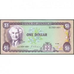 Jamaïque - Pick 68Ad - 1 dollar - Série DG - 01/01/1990 - Etat : NEUF