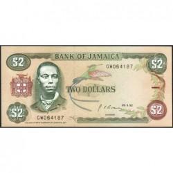 Jamaïque - Pick 69d_2 - 2 dollars - Série GW - 29/05/1992 - Etat : NEUF