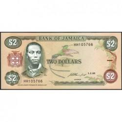 Jamaïque - Pick 69e - 2 dollars - Série HH - 01/02/1993 - Etat : NEUF