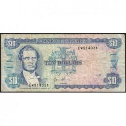 Jamaïque - Pick 71e - 10 dollars - Série EW - 01/03/1994- Etat : TB-