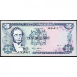 Jamaïque - Pick 71e - 10 dollars - Série GM - 01/03/1994- Etat : NEUF