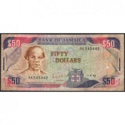Jamaïque - Pick 73a - 50 dollars - Série AK - 01/08/1988 - Etat : B+