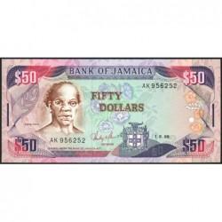 Jamaïque - Pick 73a - 50 dollars - Série AK - 01/08/1988 - Etat : NEUF
