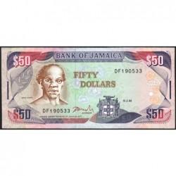 Jamaïque - Pick 73f - 50 dollars - Série DF - 15/02/1999 - Etat : SUP