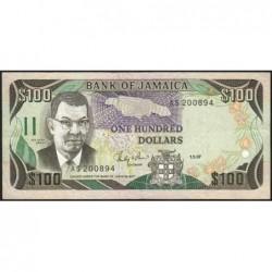 Jamaïque - Pick 74_2 - 100 dollars - Série AS - 01/09/1987 - Etat : TB+