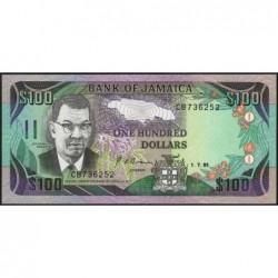 Jamaïque - Pick 75a - 100 dollars - Série CB - 01/07/1991 - Etat : NEUF