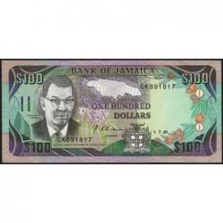 Jamaïque - Pick 75a - 100 dollars - Série CK - 01/07/1991 - Etat : SPL