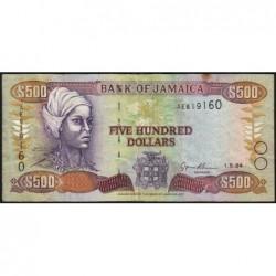 Jamaïque - Pick 77a - 500 dollars - Série AE - 01/05/1994 - Etat : TB+