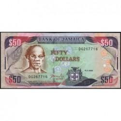 Jamaïque - Pick 79a - 50 dollars - Série DG - 15/03/2000 - Etat : TTB