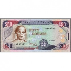 Jamaïque - Pick 83c - 50 dollars - Série NB - 15/01/2008 - Etat : NEUF