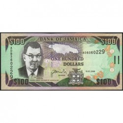 Jamaïque - Pick 84b - 100 dollars - Série ADB - 15/01/2006 - Etat : NEUF