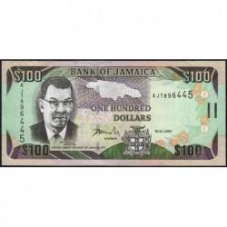 Jamaïque - Pick 84c - 100 dollars - Série AJT - 15/01/2007 - Etat : NEUF