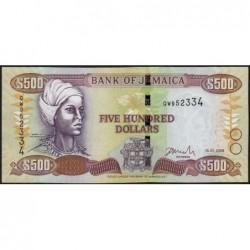 Jamaïque - Pick 85f - 500 dollars - Série QW - 15/01/2008 - Etat : pr.NEUF