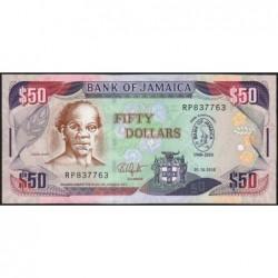 Jamaïque - Pick 88 - 50 dollars - Série RP - 01/10/2010 - Commémoratif -  Etat : NEUF