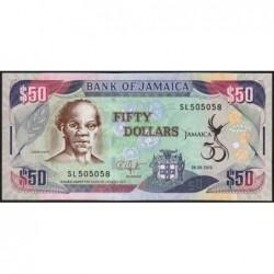 Jamaïque - Pick 89 - 50 dollars - Série SL - 06/08/2012 - Commémoratif -  Etat : NEUF