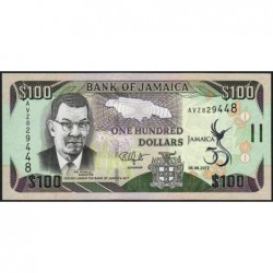Jamaïque - Pick 90 - 100 dollars - Série AVZ - 06/08/2012 - Commémoratif - Etat : NEUF