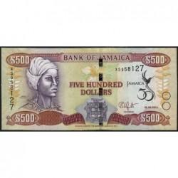 Jamaïque - Pick 91 - 500 dollars - Série XS - 06/08/2012 - Commémoratif - Etat : NEUF