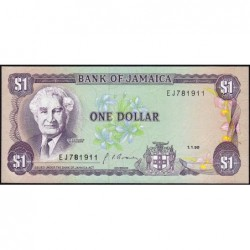Jamaïque - Pick 68Ad - 1 dollar - Série EJ - 01/01/1990 - Etat : NEUF