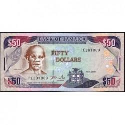 Jamaïque - Pick 83c - 50 dollars - Série PL - 15/01/2008 - Etat : NEUF