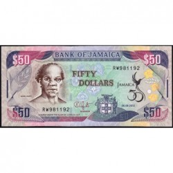 Jamaïque - Pick 89 - 50 dollars - Série RW - 06/08/2012 - Commémoratif -  Etat : NEUF