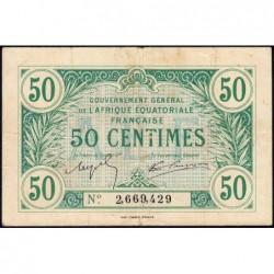 AEF - Pick 1a_2 - 50 centimes - 1917 - Etat : TTB