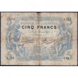 Algérie - Pick 71b_1 - 5 francs - 19/11/1915 - Etat : TB-