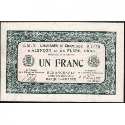 Alençon / Flers (Orne) - Pirot 6-23 - 50 centimes - Série 2M2 - 10/08/1915 - Etat : SPL