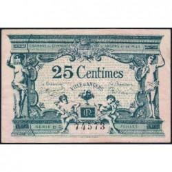 Angers (Maine-et-Loire) - Pirot 8-11 - 25 centimes - Série D3 - 11/1917 - Etat : TTB+