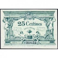 Angers (Maine-et-Loire) - Pirot 8-4 - 25 centimes - Série H - 11/1917 - Etat : NEUF