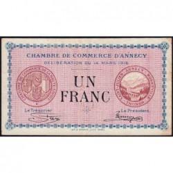 Annecy - Pirot 10-5 - 1 franc - Série 172 - 14/03/1916 - Etat : TB+
