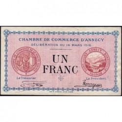 Annecy - Pirot 10-5 - 1 franc - Série 176 - 14/03/1916 - Etat : TB+