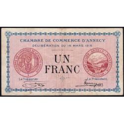 Annecy - Pirot 10-5 - 1 franc - Série 152 - 14/03/1916 - Etat : TB