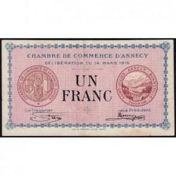 Annecy - Pirot 10-5 - 1 franc - Série 155 - 14/03/1916 - Etat : TTB