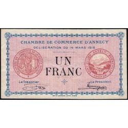 Annecy - Pirot 10-5 - 1 franc - Série 189 - 14/03/1916 - Etat : TB+